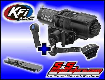 4500 lb KFI Stealth Winch Combo Polaris Ranger TM 425 500 6x6 700 2001-2008 2x4