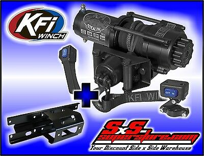 3500 lb KFI Stealth Winch Combo Polaris Sportsman 2005-2010 400/450/500/700/800