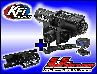 2500 lb KFI Stealth Winch Combo Polaris Sportsman 2005-2010 400/450/500/700/800