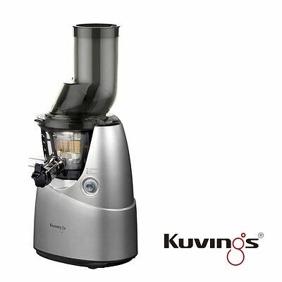 Kuvings Whole Slow Juicer B6000S Entsafter Silber inkl. Rezeptbuch