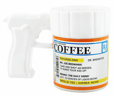 Prescription Gun Coffee Mug - Wholesale Bulk Dealer Distributor Case Lot Of 24