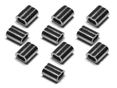 10 X SWAGES for 2.0 to 2.0mm Stainless rope Swag Crimp CLAMP FERRULE