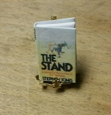 "Miniature Doll House Book Titled "" The Stand "" by Stephen King. Tiny"