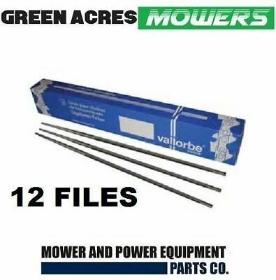 """12 X  Swiss Made Vallorbe Chainsaw Sharpening Files  7/32"""" For 3/8 Chain"""
