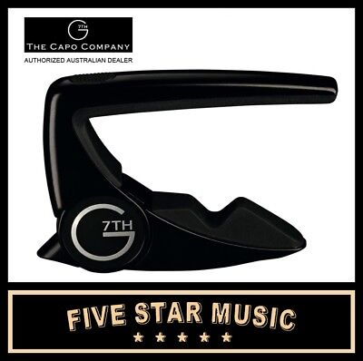 New G7Th Performance Capo 2 Black G7 World's Greatest Capo- New Model G7P2Bk
