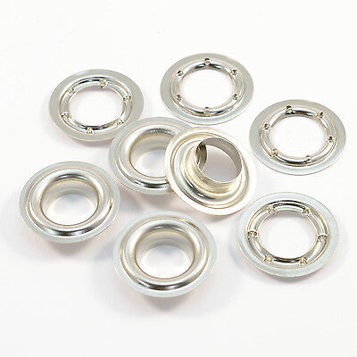 1000 Eyelets 16mm DIN 7332, Stainless steel V2A INOX, for press, Plane, Banner