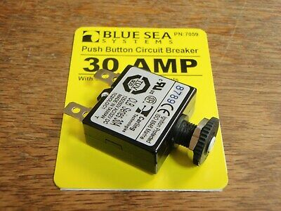 CIRCUIT BREAKER BLUE SEA PUSH TO RESET 661 7056 15 AMP CLB BOATINGMALL  BOAT