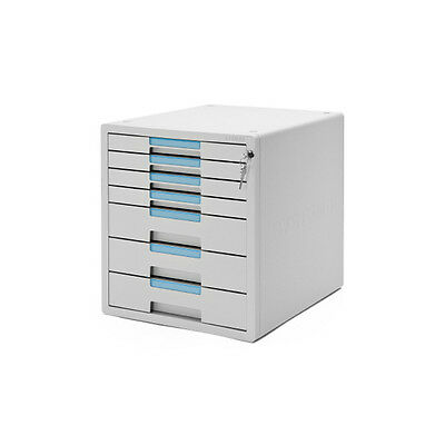 System-2 Key File Cabinet 7 Drawers Office Cabinet Lock Function 1207K