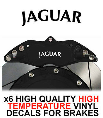 QUALITY JAGUAR HI CAST VINYL BRAKE CALIPER PANEL DECALS..x14 TEMP