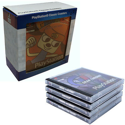Sony Playstation Ps One Classic Games Cases Coasters - Official Merchandise