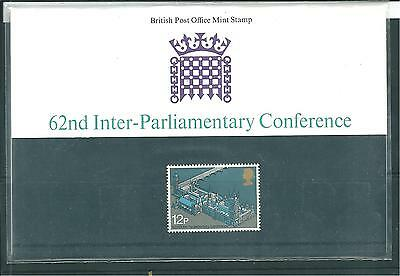 GB - PRESENTATION PACKS - 1975 - 62nd INTER-PARLIAMENTARY CONFERENCE