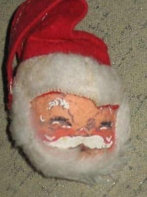 1971 Annalee Santa Claus Head Pin Tagged Ornament For Christmas Hard To Find