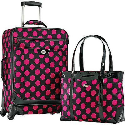 American Tourister Color Your World 2 Carry-On Spinner Luggage Set NEW