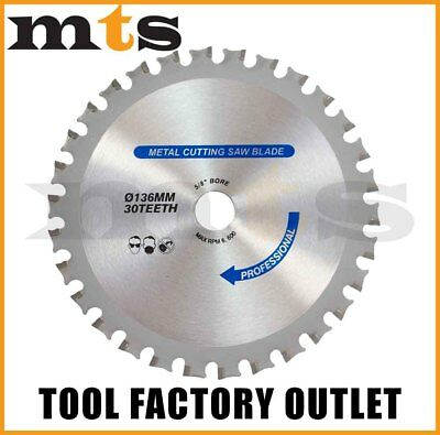 Tct Metal Cutting Saw Blade 136Mm X 30T Fits Most Makita Bcs550