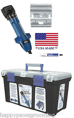 OSTER CLIPMASTER VARIABLE SPEED CLIPPING MACHINE SET-Blade,Oil,CASE-Sheep,Cattle