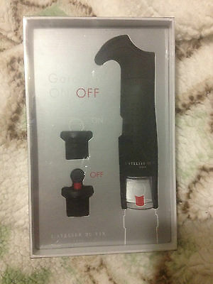 L'Atelier du Vin Gard'vin On/Off  Wine Saver Pump with On/Off Stoppers BNIB