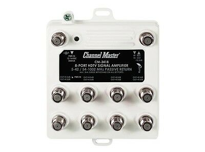 Channel Master CM-3418 8 output distribution amplifier