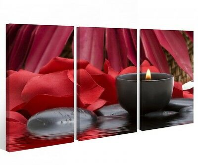 feng shui 3 bilder leinwand 120x80 wellness spa. Black Bedroom Furniture Sets. Home Design Ideas
