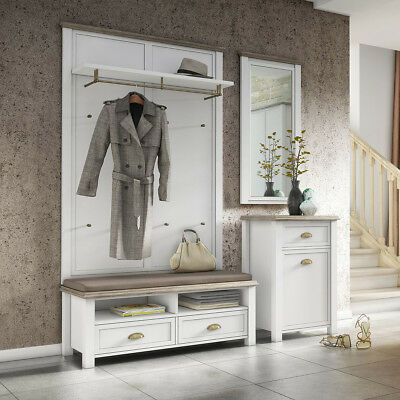 garderobe dt herst flurgarderobe kiefer massiv kommode diele set. Black Bedroom Furniture Sets. Home Design Ideas