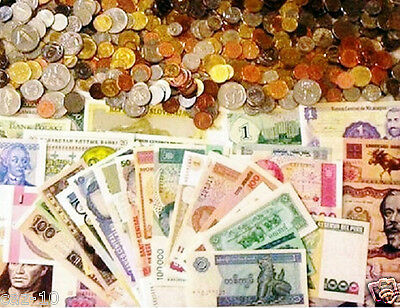 100 World Foreign Coins & 50 Different World MINT  Banknotes ,FREE Priority Mail