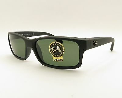 Ray Ban RB 4151 622 Black Rubber G15 New 100% Guaranteed Authentic