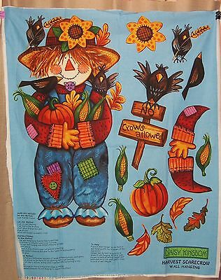 Harvest Scarecrow Wall Hanging Quilt Fabric Panel~Thanksgiving~Daisy Kingdom