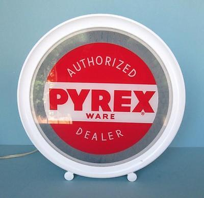 Super Rare 1949 PYREX AUTHORIZED DEALER Lighted Sign - Great Condition!