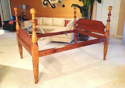 Antique 1800's Cannon Ball 3/4 Rope Bed