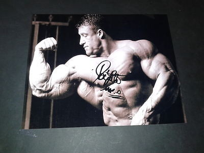 "Dorian Yates Pp Signed 10""x8"" Photo Repro Bodybuilding Mr Olympia"