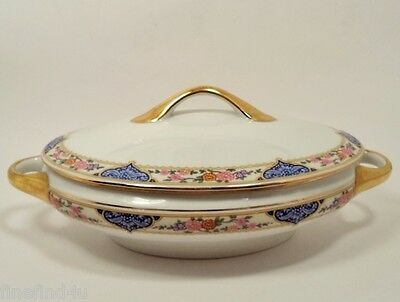 KPM FINE CHINA KPM7 GERMANY DISHES OVAL COVERED SERVING BOWL CASSEROLE W/ LID