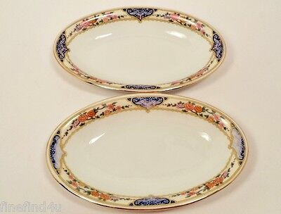 KPM FINE CHINA KPM7 GERMANY DISHES 2 OVAL SERVING RELISH DISH OLIVES NUTS 8 1/2""