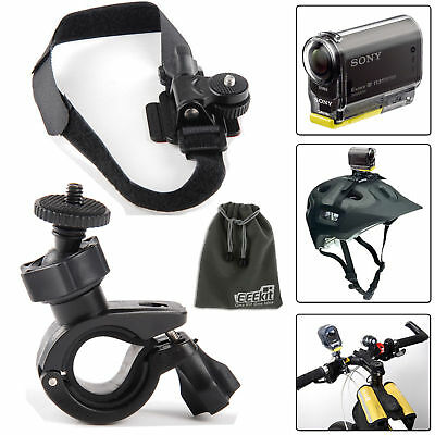 EEEKit Sony Action Cam HDR AS20/AS100V/200V/AZ1 Mini,Bike Handlebar/Helmet Mount