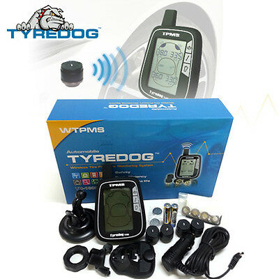 Tyredog TPMS TD1000A External 4 Sensors Pressure Monitoring System Quick DIY