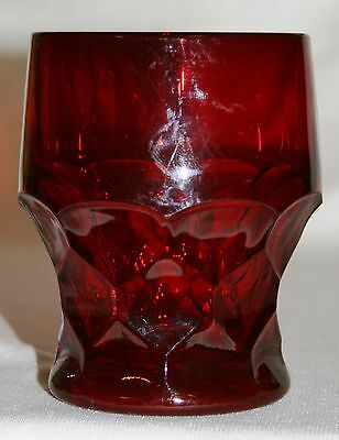Vintage Collectible Ruby Red 8 oz Georgian Tumbler Viking Glass 7 Available Nice