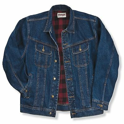 NWT Wrangler Rugged Wear Flannel Lined Jacket - (VARIOUS SIZES) - Denim