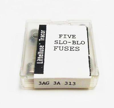 """(5) Littelfuse 3A 313003 3AG 250VAC 1/4"""" x 1-1/4"""" Fuses, Slo-Blo, Time Delay NEW"""