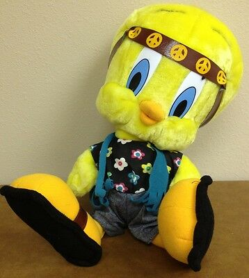 """TWEETY BIRD the HIPPIE Plush ACE Looney Tunes 16"""" tush tags only 1998"""