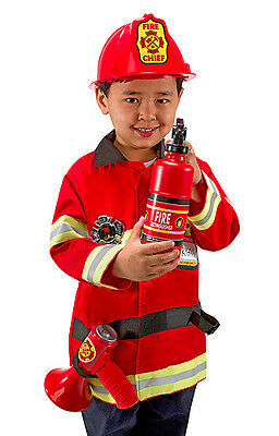 Melissa & Doug Fire Chief Role Play Costume Set 4834