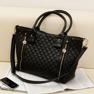 Women's Handbags Bags Leather Shoulder Tote Crossbody Bag Hobo Handbag Black