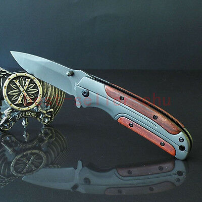 Brn Assisted Opening Folding Pocket Knife Saber Outdoor Camping Rescue K167