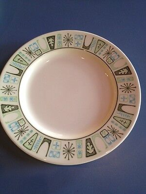 "Vintage Smith & Taylor - Taylorstone Cathay Plate 6 3/4"" Atomic AQUA / GREEN"