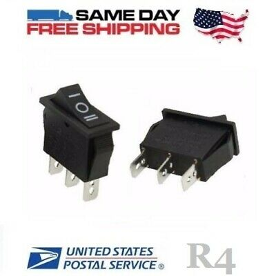 (2) SPDT ~ Single Pole Double Throw ~ 3 PIN ( on-off-on ) 20A ~ Rocker Switch