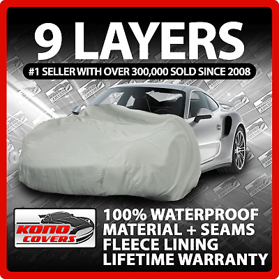 9 Layer Car Cover Indoor Outdoor Waterproof Breathable Layers Fleece Lining 6523
