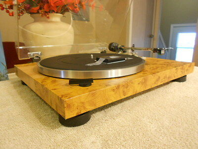 Stunning Custom Pioneer PL 512 Look of Oak and maple burlwood.