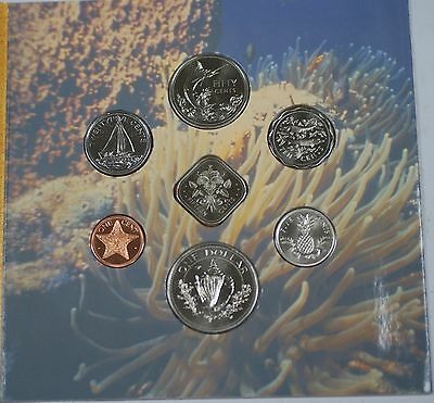 1992 Bahamas Mint Set 7 Coins Brilliant Uncirculated Discovery Quincentennial