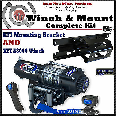 kfi 3000 lb winch combo for all polaris ranger rzr 570 and 800 kfi 3000 lb winch combo for 2005 2010 polaris sportsman x2 touring