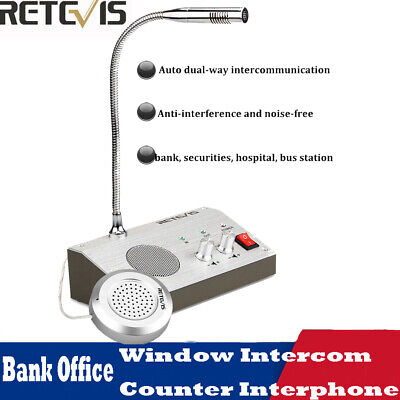 Dual-way Bank Window Retevis RT-9908 Counter Intercom Interphone System 110/220V