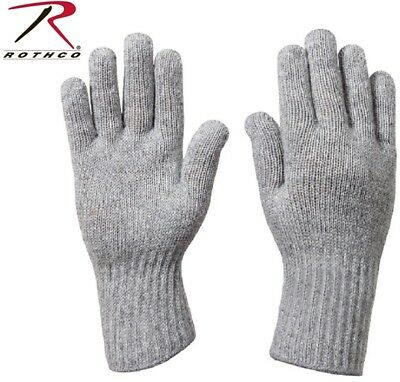 Grey D-3A Military Wool Nylon Blend Glove Liners - Made in the USA Rothco 8418