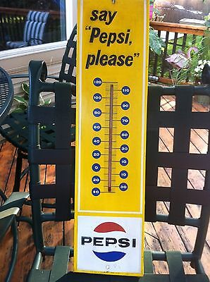 Vintage 1970 Say Pepsi Please Thermometer