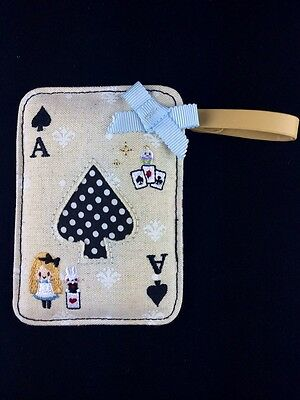 New Japan Fairy Tale embroidery Alice in Wonderland little rabbit cardholder